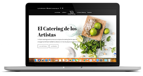 In-fusion Catering - Weboluciona - disseny web